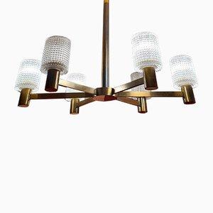 Lámpara de araña de Carl Fagerlund para Orrefors, años 50