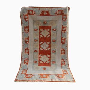 Turkish Soft Muted Color Decorative Oushak Living Room Rug, 1970s