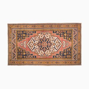 Vintage Turkish Copper and Blue Hand Knotted Taspinar Rug, 1970s