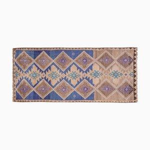 Vintage Turkish Oushak Hallway Runner Rug, 1970s