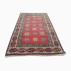 Türkischer Handgeknüpfter Roter Oushak Teppich, 1970er