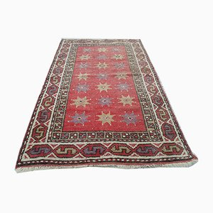 Turkish Red Hand Knotted Oushak Rug, 1970s