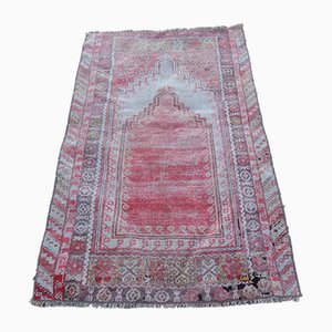 Vintage Turkish Distressed Prayer Rug, 1970s
