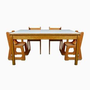 Tavolo da bambino vintage, set di 5