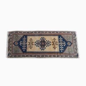 Vintage Turkish Oushak Yastik Rug for Foyer, Kitchen, Bathroom, or Entry, 1970s