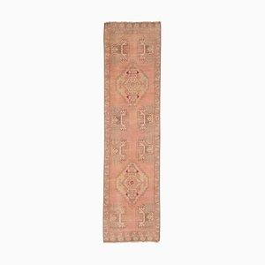 Vintage Turkish Geometric Tribal Oushak Runner Rug, 1970s
