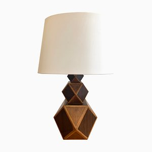 Vintage Rosewood Marquetry Table Lamp