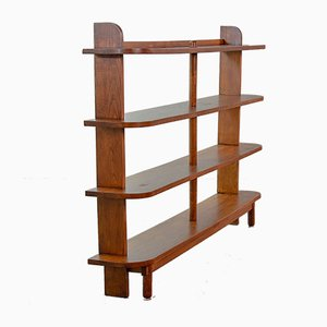 Stokkenkast Solid Oak Wall Unit, 1950s