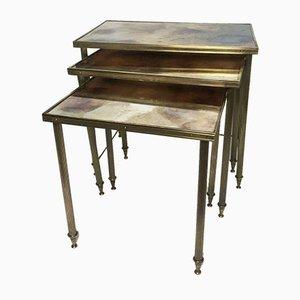 Tavolini ad incastro di Maison Jansen, anni '50, set di 3