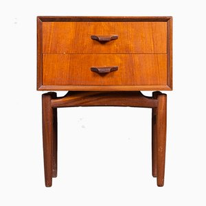 Mid-Century Danish Teak Dresser with 2 Drawers, 1960s