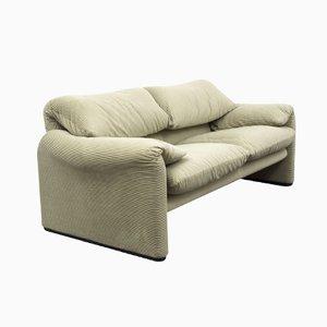 Maralunga Sofa und Fußhocker von Vico Magistretti für Cassina
