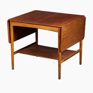 Tavolino da caffè Mid-Century in teak e quercia di Hans J. Wegner per Andreas Tuck, Danimarca, anni '50