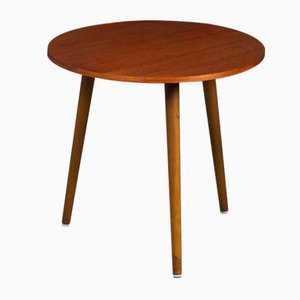 Danish Round Side Table in Teak, 1960s