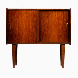 Mid-Century Danish Rosewood Cabinet with Sliding Doors, 1960s