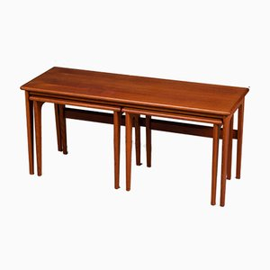 Mid-Century Danish Teak Nesting Tables from VM, 1960s