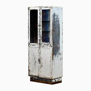 Vetrina per medicinali vintage in acciaio e vetro di Kovona, anni '50