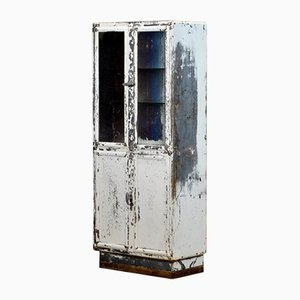 Vintage Steel and Glass Medical Display Cabinet from Kovona, 1950s