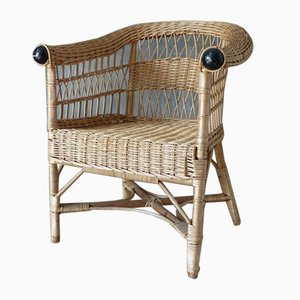 Vintage Rattan Armchair, 1960s