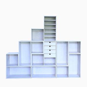 Modulares Vintage Bücherregal, 7er Set