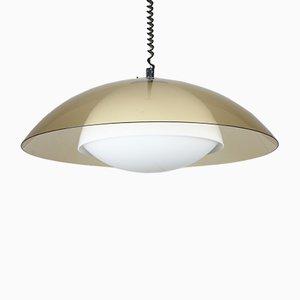 Lámpara era espacial UFO vintage marrón de Guzzini, años 70