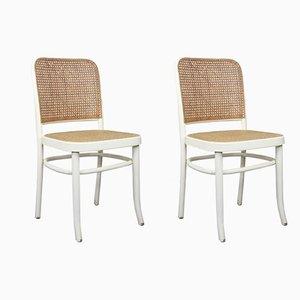 Vintage No. 811 Beistellstühle von Josef Hoffmann für Thonet, 2er Set