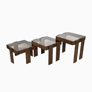 Vintage Nesting Stacking Tables by Gianfranco Frattini, 1960