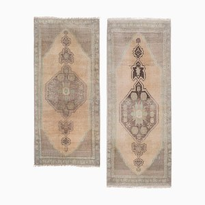 Small Turkish Distressed Oushak Rugs, 1970s, Set of 2