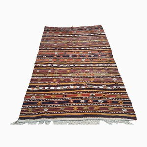 Vintage Striped Turkish Kilim Rug, 1970s
