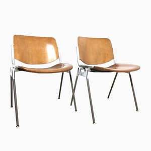 DSC 106 Desk Chairs by Giancarlo Piretti for Castelli / Anonima Castelli, 1960s, Set of 2