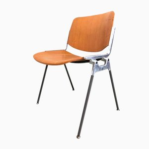 DSC 106 Desk Chairs by Giancarlo Piretti for Castelli / Anonima Castelli, 1960s, Set of 4
