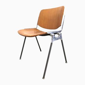 DSC 106 Desk Chairs by Giancarlo Piretti for Castelli / Anonima Castelli, 1960s, Set of 6