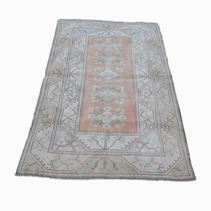 Turkish Soft Muted Color Oushak Living Room Rug, 1970s