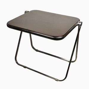 Aluminium & Brown ABS Top Model Platone Gianc Desk by Giancarlo Piretti for Castelli / Anonima Castelli, 1970s