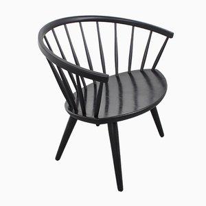 Schwarzer Arka Chair von Yngve Ekström für Stolab, 1960er