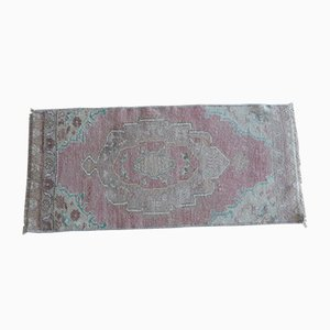 Small Turkish Distressed Oushak Rug, 1970s