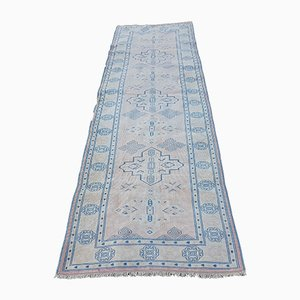 Vintage Turkish Soft Color Kars Runner Rug, 1970s