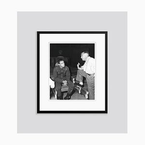 Marlon Brando & Director Mervyn Leroy 1957 Archival Pigment Print Framed in Black by Everett Collection