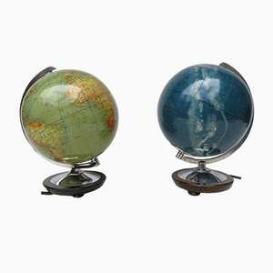 Globes from Columbus, 1950s, Set of 2