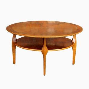 Table Basse en Noyer avec Etagère, 1950s