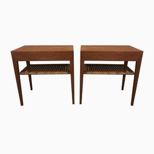 Tables de Chevet par Severin Hansen pour Haslev Møbelsnedkeri, 1960s, Set de 2