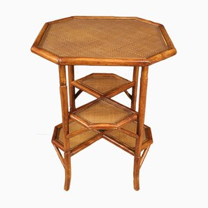 Spanish Side Table in Bamboo Wood, 1960s