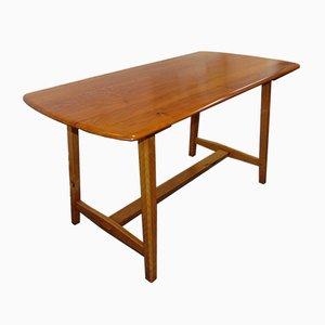 Table de Salle à Manger à Trétaux en Orme de Ercol,1950s