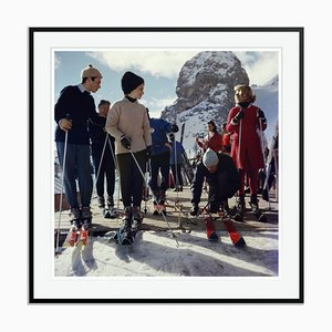 Cortina Dampezzo Oversize C Print Framed in Black by Slim Aarons