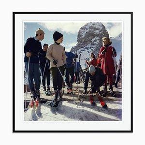 Stampa Oversize C Cortina di Slim Aarons nera di Cortina