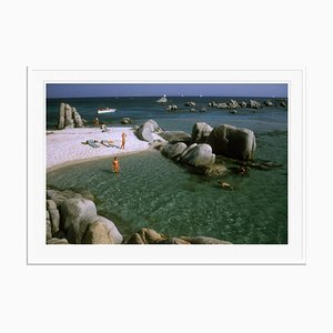 Island Paradise Oversize C Print Framed in White by Slim Aarons
