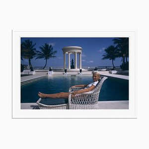 CZ's House Oversize C Print Framed in White by Slim Aarons