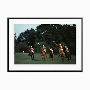 Spot the Ball Oversize C Print Framed in Black by Slim Aarons