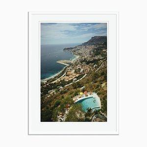 Roquebrune-Cap-Martin Oversize C Print Framed in White by Slim Aarons