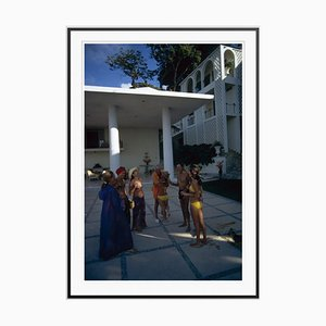 Oscar Obregon's House Oversize C Print Framed in Black by Slim Aarons