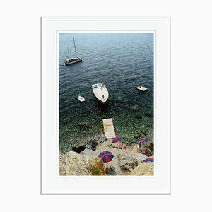 Porto Ercole Oversize C Print Framed in White by Slim Aarons